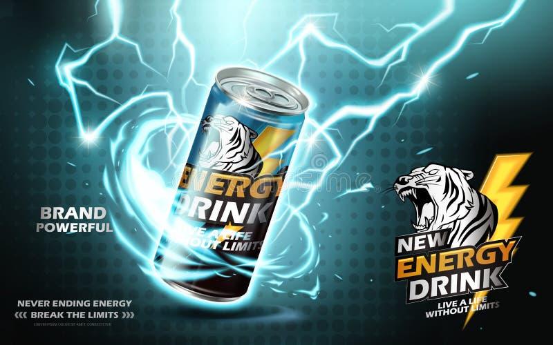 Anúncio da bebida da energia ilustração royalty free