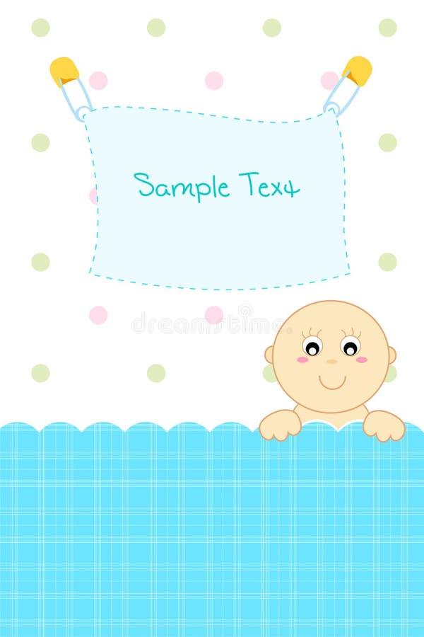 Anúncio da chegada do bebê ilustração stock