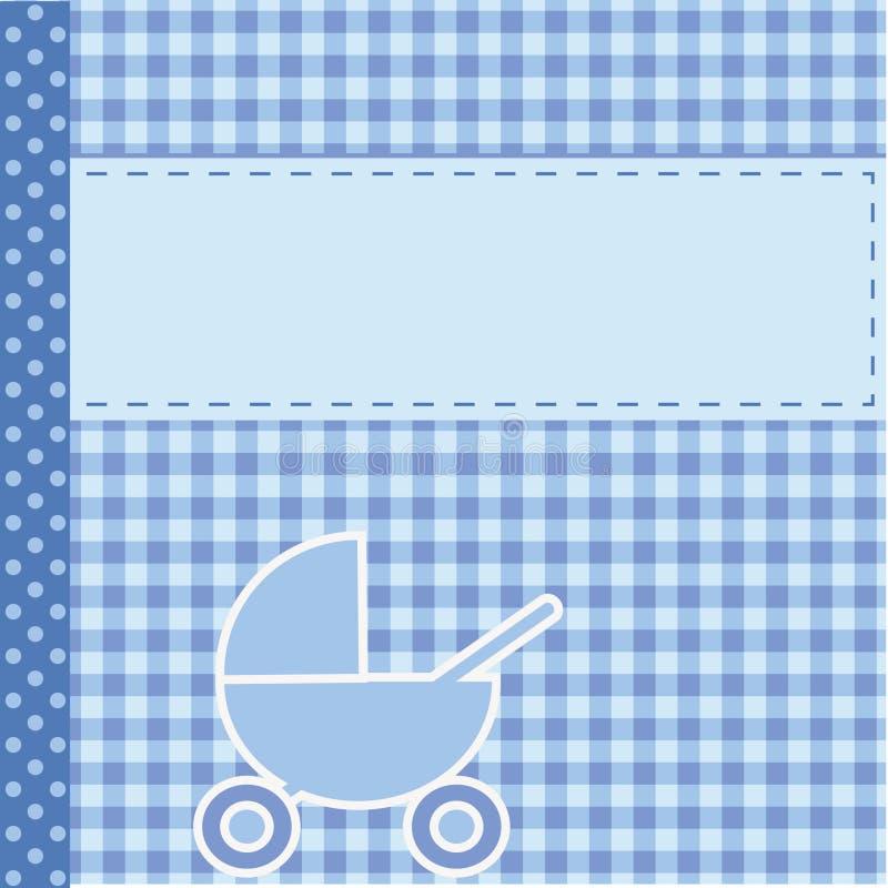 Anúncio da chegada do bebê para o menino ilustração do vetor