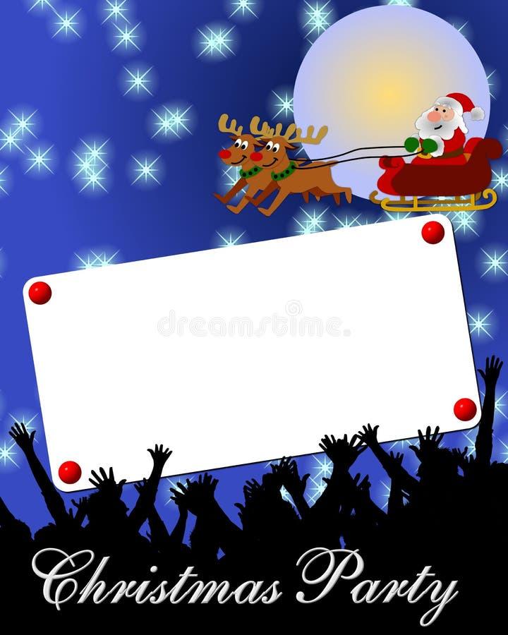 Anúncio da festa de Natal ilustração do vetor
