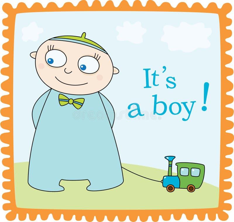 Anúncio do bebé ilustração royalty free