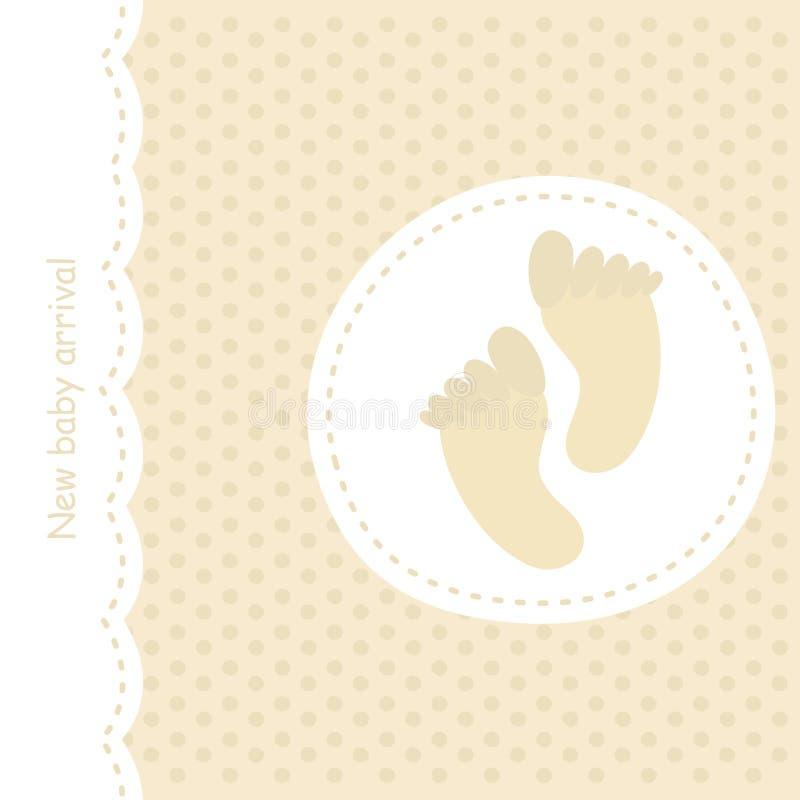 Anúncio do bebê ilustração royalty free