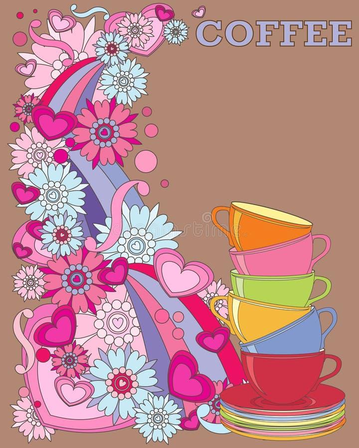 Anúncio do café ilustração do vetor