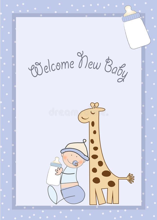 Anúncio do chuveiro de bebê ilustração do vetor