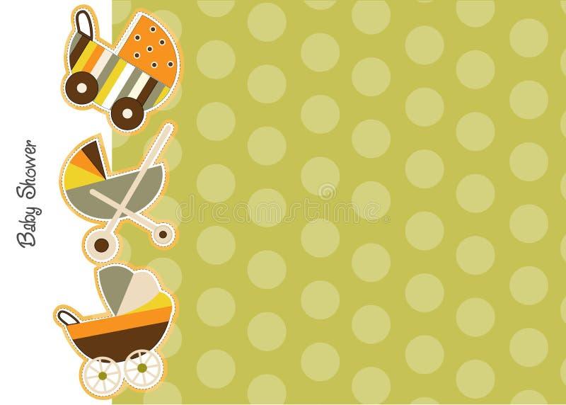 Anúncio do chuveiro de bebê ilustração royalty free