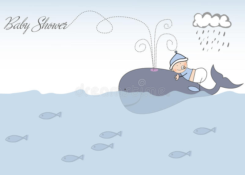 Anúncio do chuveiro de bebê ilustração stock