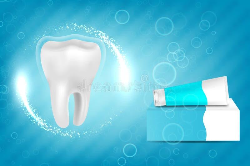 Anúncio do dentífrico do alvejante ilustração do vetor