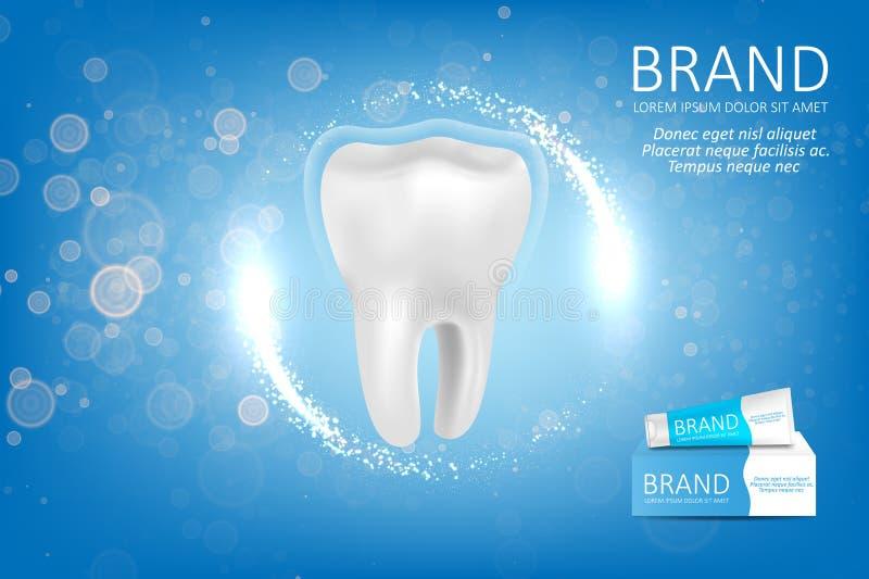 Anúncio do dentífrico do alvejante ilustração royalty free