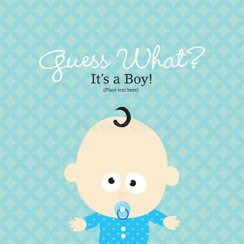 Anúncio do nascimento ilustração royalty free