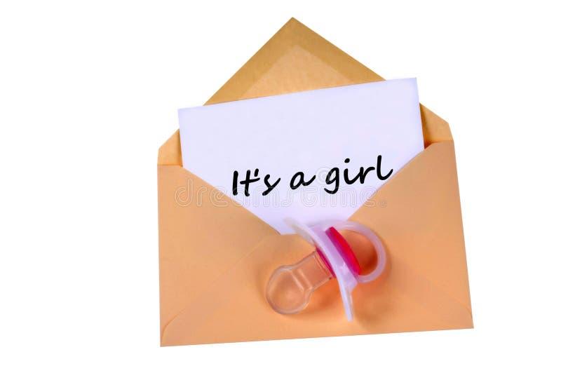Anúncio do nascimento de uma menina ilustração royalty free