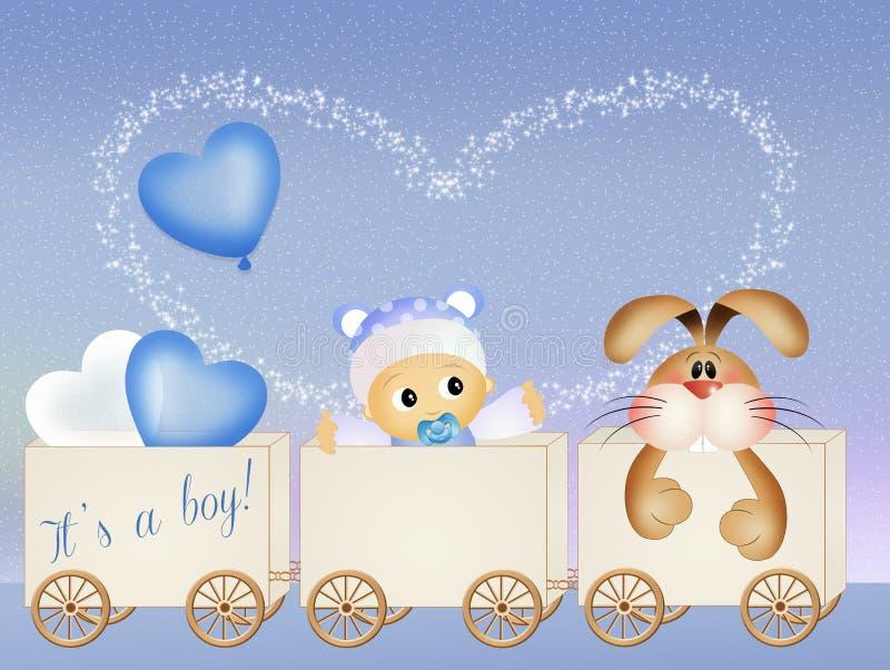 Anúncio do nascimento do bebê ilustração royalty free