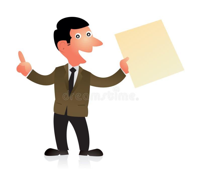Anúncio do negócio ilustração do vetor