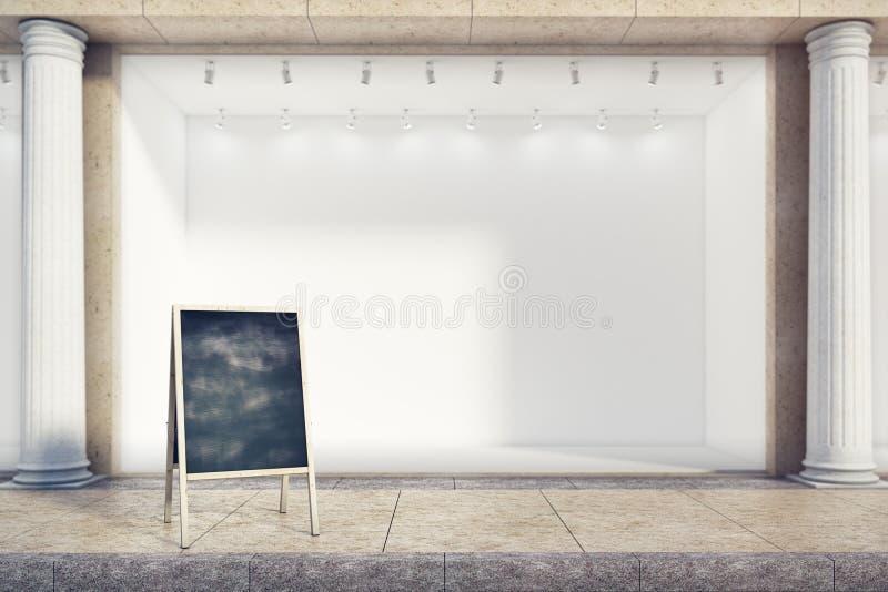 Anúncio do restaurante ilustração stock