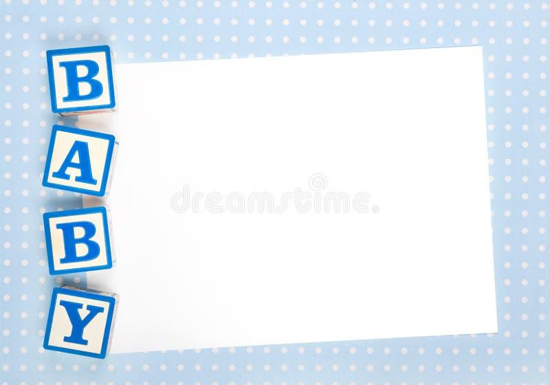 Anúncio em branco do bebê imagens de stock