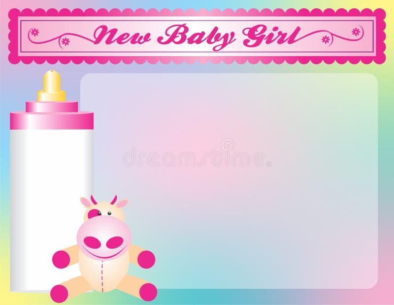 Anúncio novo da chegada do bebé imagens de stock royalty free