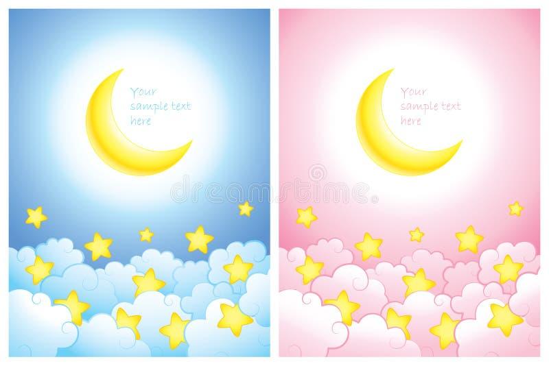 Anúncio ou cartão do bebê ilustração stock