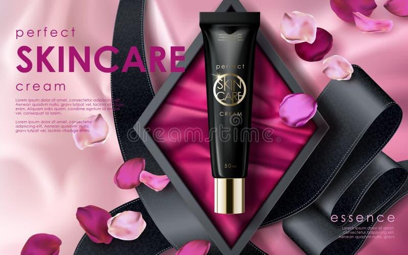 Anúncio perfeito do skincare ilustração royalty free