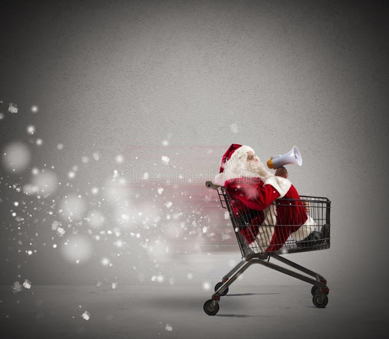 Anúncio rápido de Santa Claus fotos de stock