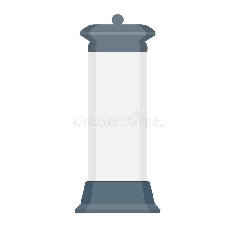 Anúncio vertical do ícone do vetor da opinião dianteira da oferta do signage da estrada do cilindro do quadro de avisos Elemento  ilustração do vetor