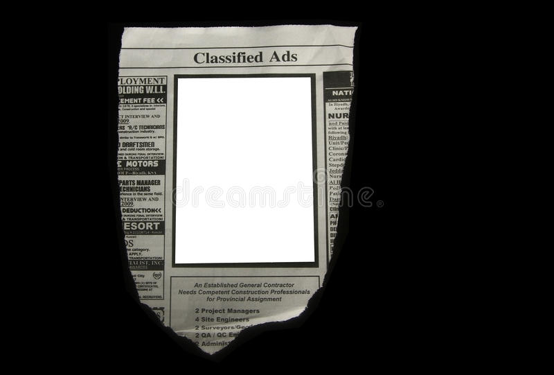 Anúncios classific fotos de stock