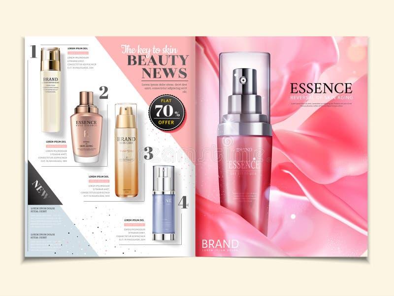 Anúncios cosméticos do compartimento ilustração do vetor
