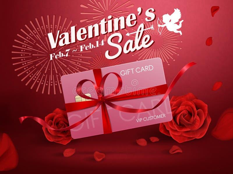Anúncios da venda do ` s do Valentim ilustração royalty free