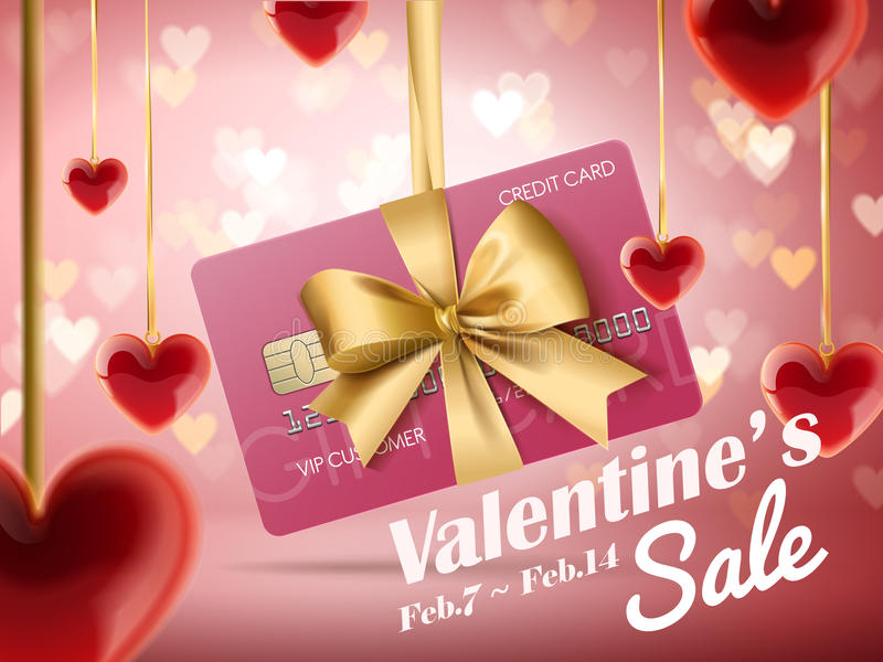 Anúncios da venda do ` s do Valentim ilustração do vetor