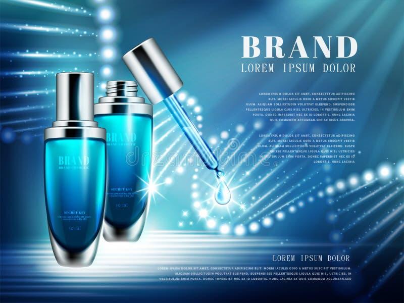 Anúncios de produto cosméticos ilustração do vetor