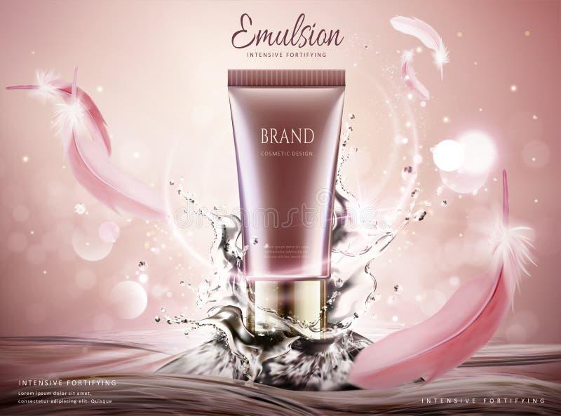 Anúncios de produto dos cuidados com a pele ilustração stock