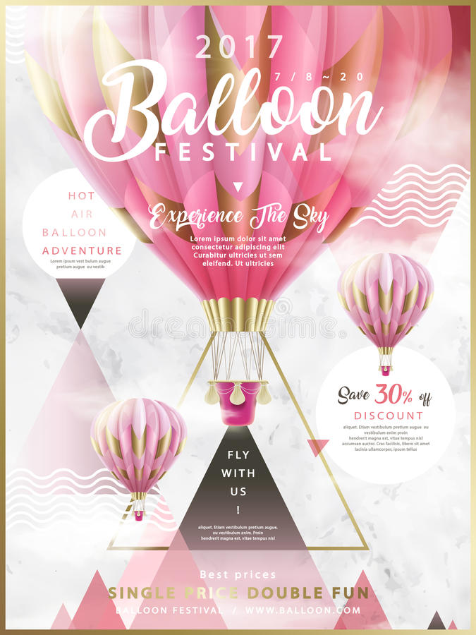 Anúncios do festival do balão ilustração stock