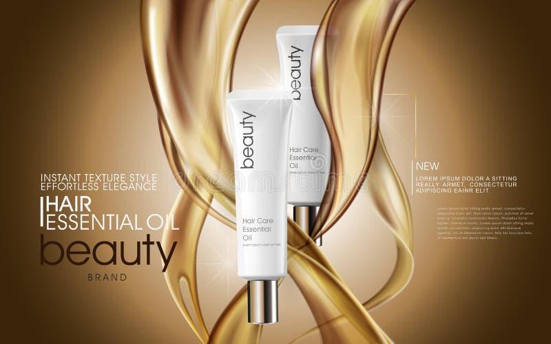 Anúncios superiores do óleo de cabelo ilustração royalty free