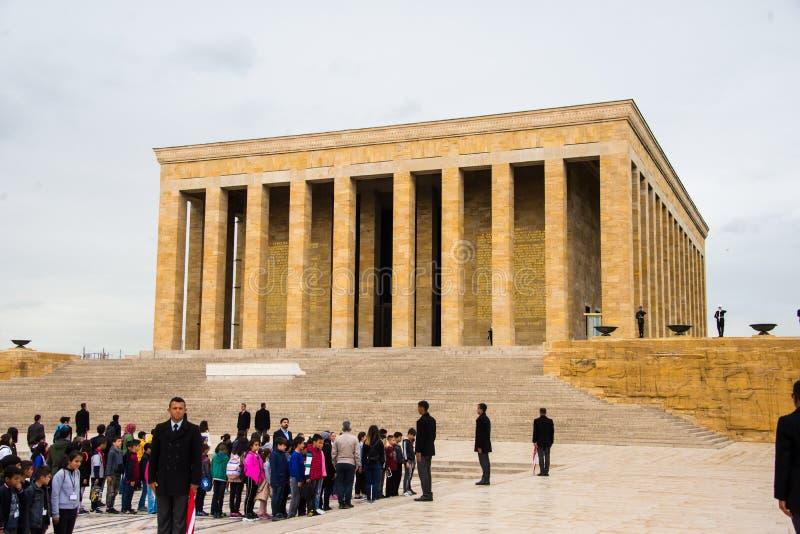Anıtkabir Ataturk minnesmärke i Ankara, Turkiet royaltyfri foto
