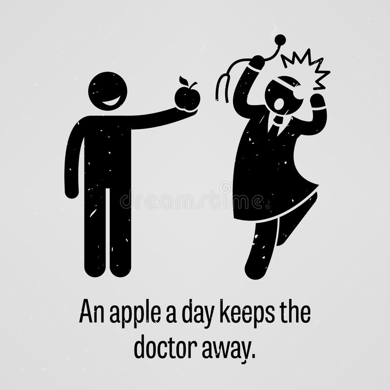 Free An Apple A Day Keeps The Doctor Away Funny Version Proverb Royalty Free Stock Images - 49903569