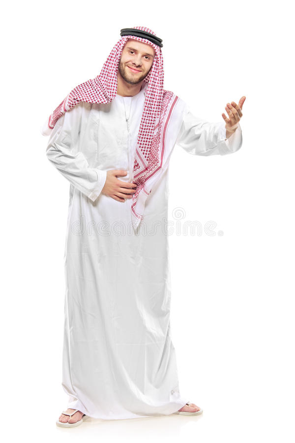 Free An Arab Person Welcoming Royalty Free Stock Images - 12942909