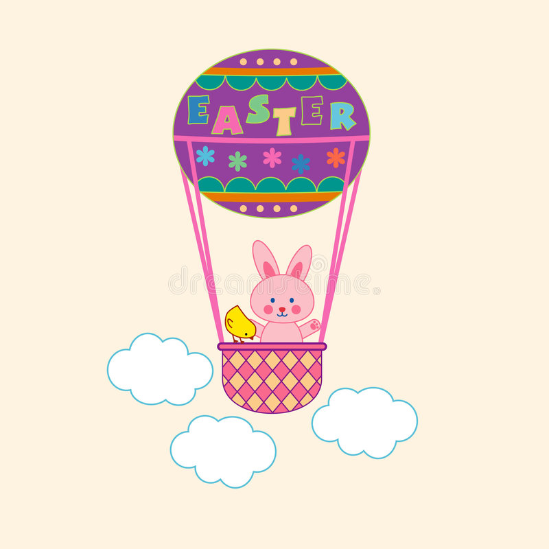 Free An Easter Bunny On The Air-balloon Stock Photo - 4412600