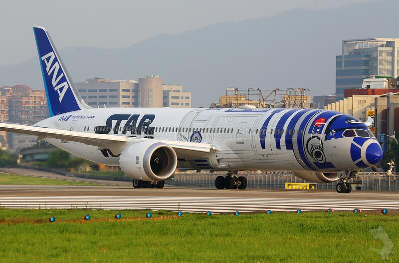 ANA airliner royalty free stock image