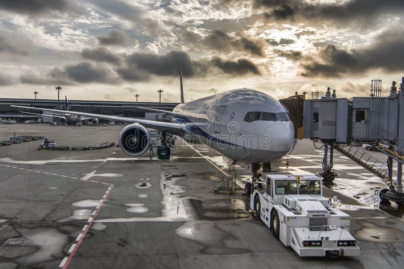 ANA All Nippon Airlines Boeing 767 aviões fotografia de stock