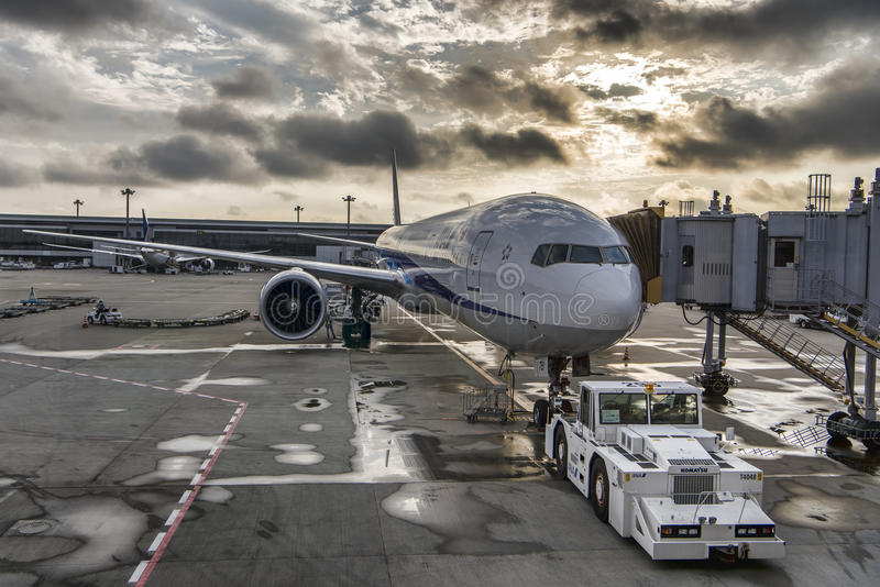 ANA All Nippon Airlines Boeing 767 flygplan arkivbild