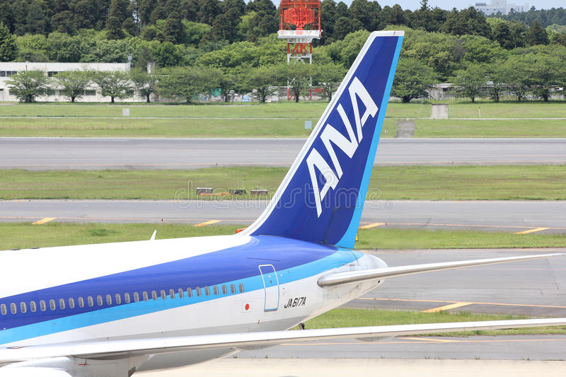 ANA Boeing 767 stock photography