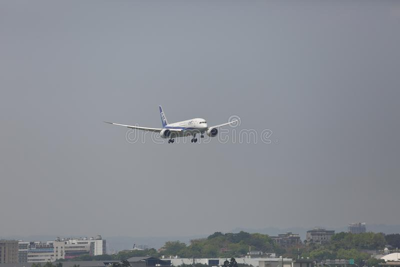 ANA Boeing 787-8 Dreamliner lizenzfreies stockfoto