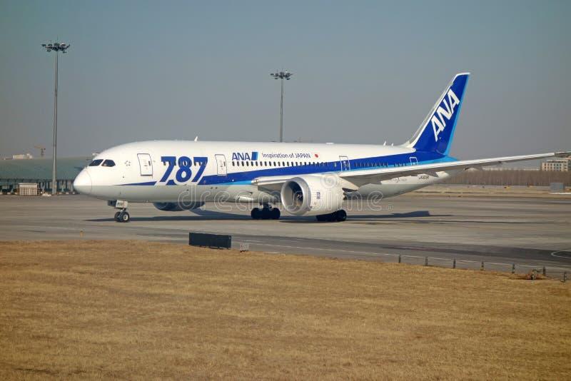 ANA Boeing 787 Dreamliner fotografie stock