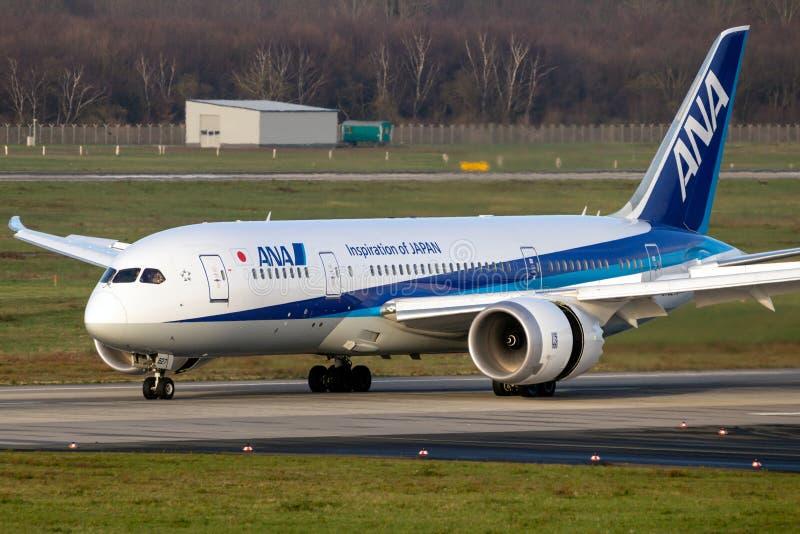ANA Boeing 787 Dreamliner airliner plane stock photo