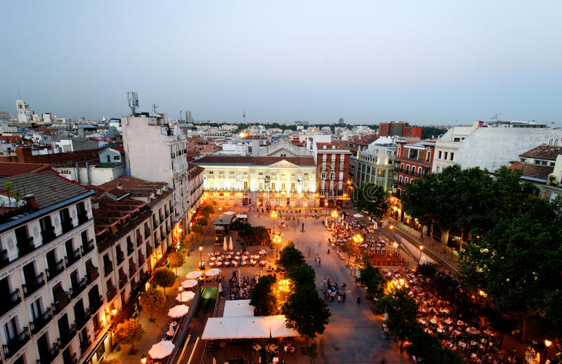 ana de plaza santa royaltyfri foto