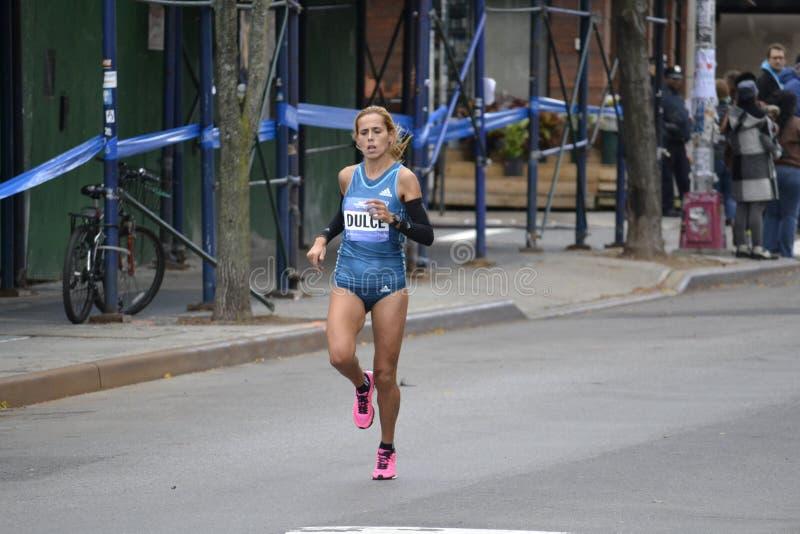 Ana Dulka Felix elita biegacza NYC maraton obraz royalty free