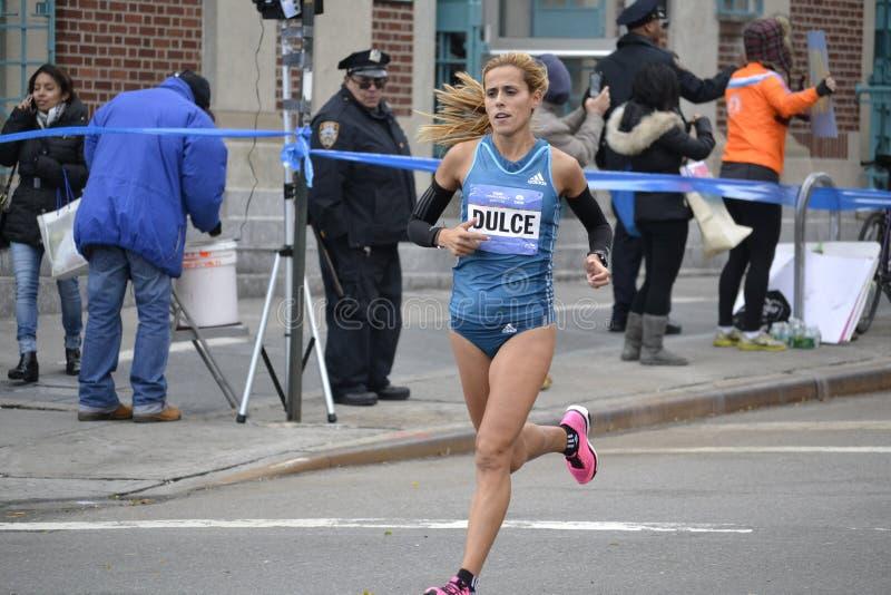 Ana Dulka Felix elita biegacza NYC maraton obraz stock