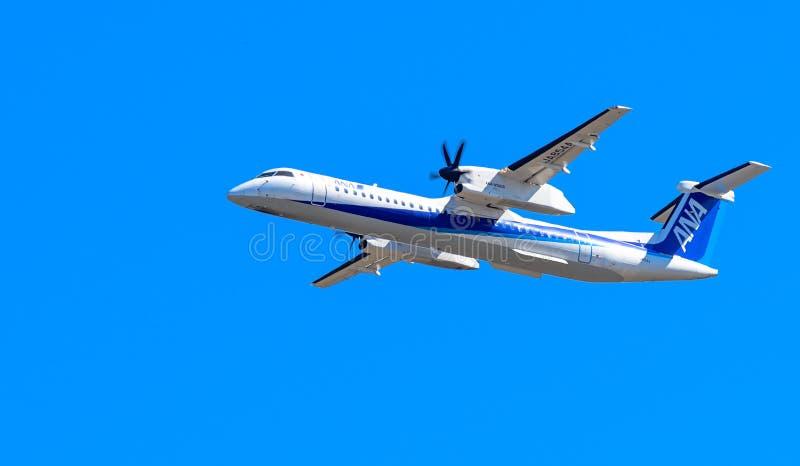 ANA-Flugzeug lizenzfreies stockfoto