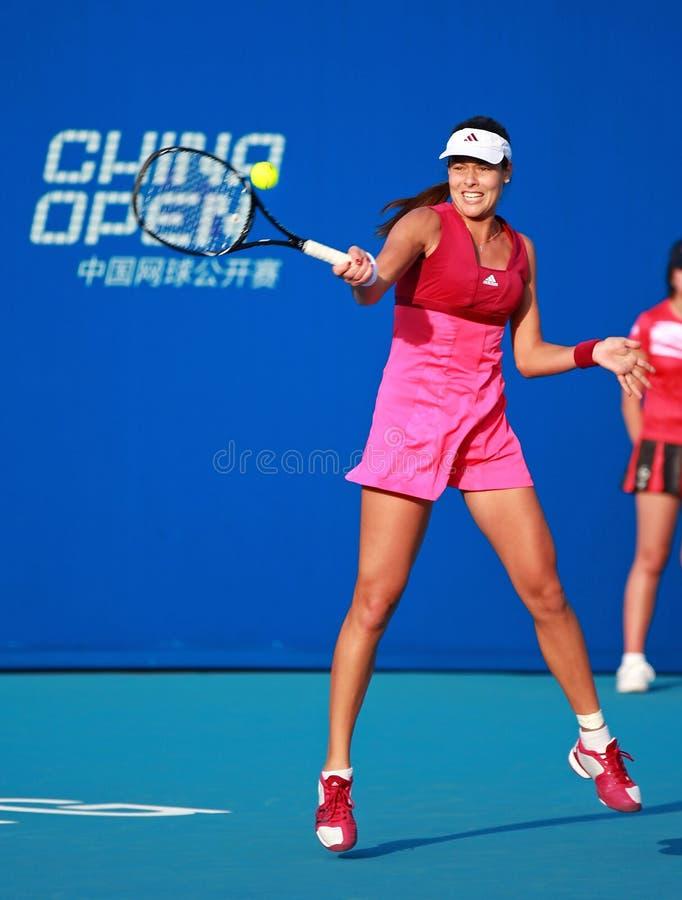 Ana Ivanovic na ação fotos de stock