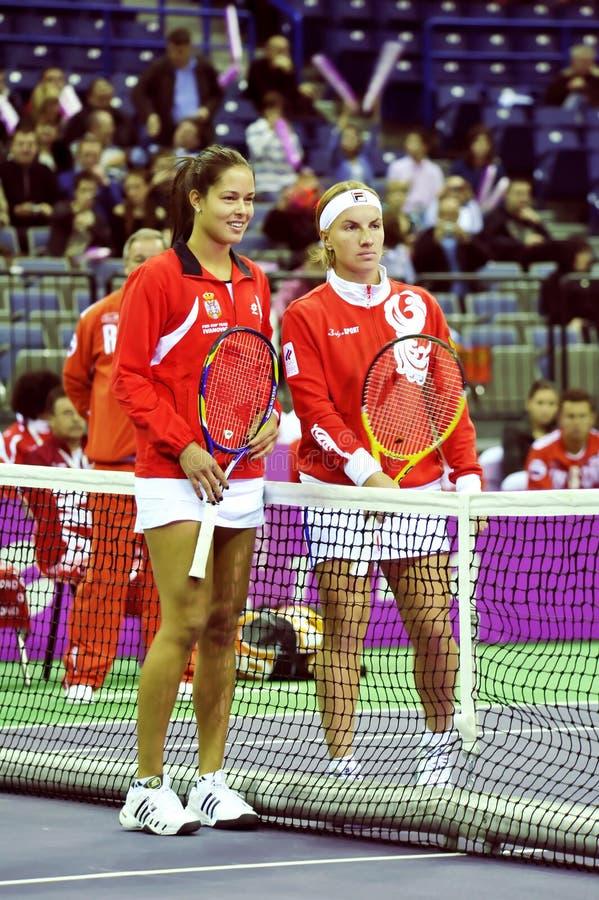 Download Ana Ivanovic And Svetlana Kuznetsova Editorial Image - Image: 12906275