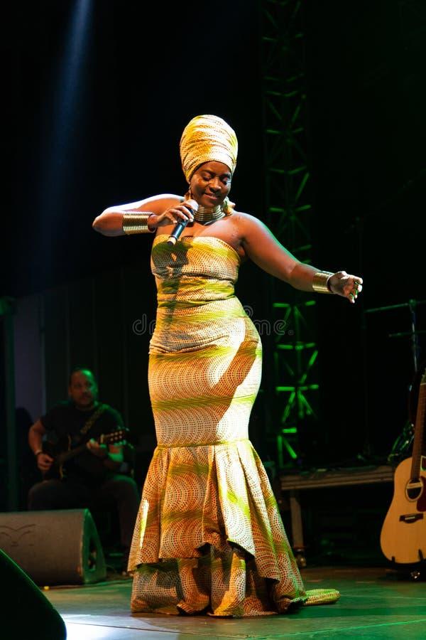 Anabela Aya, Angola. Kriol Jazz Festival stock photo