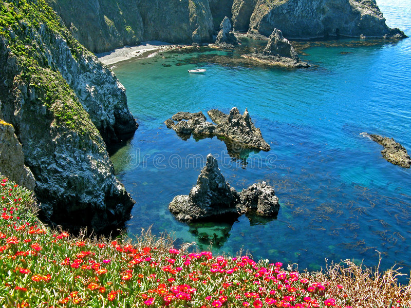 anacapa惊人的小海湾 库存图片
